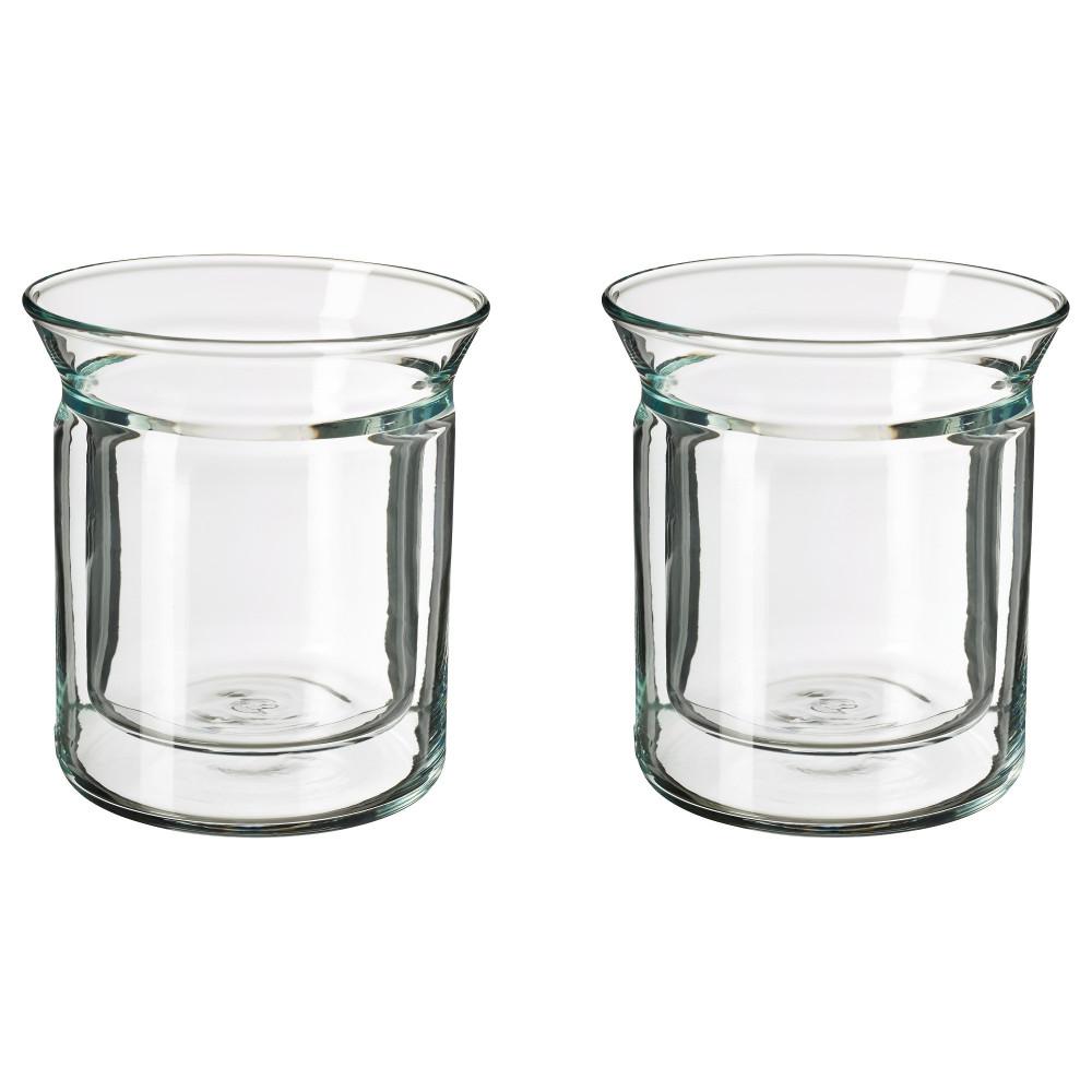 Стакан АВРУНДАД двуслойные стенки, прозрачное стекло  фото 1