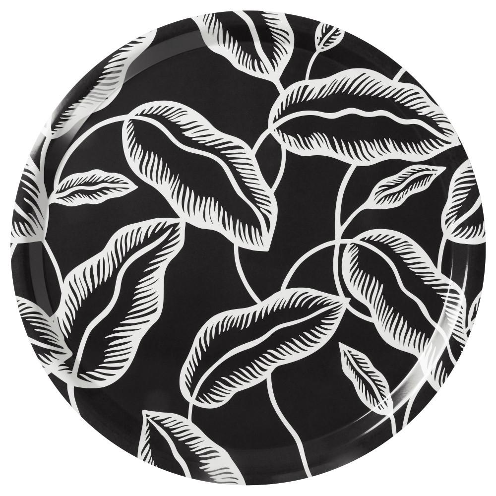 Поднос АВСИКТЛИГ черный, белый лист  фото 1